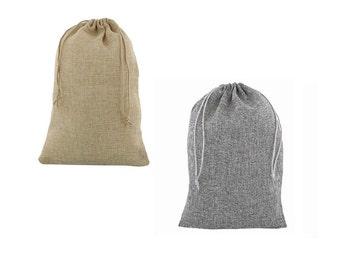 50 pcs 20x30cm Jute drawstring bags Natural or Anthracite