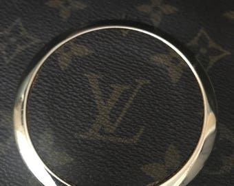 Compact mirror with lv canvas inlay