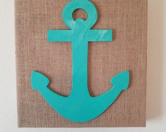 Burlap Anchor Wall Decor