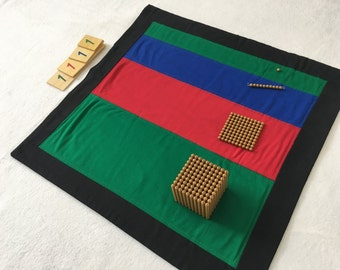 Montessori place value mat