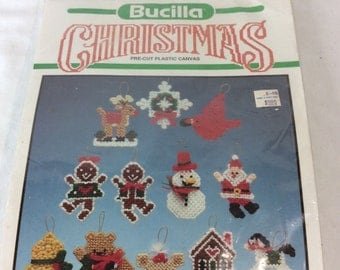 Bucilla Christmas Memories Ornaments Set of 12 Needlecraft Kit 61088