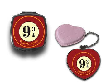 Harry Potter Platform 9 3/4 Hogwarts Express Compact Makeup Handbag Mirror CM075