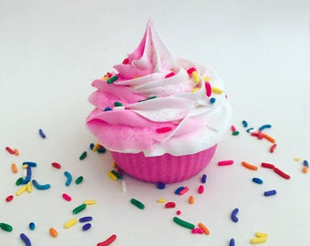 Sprinkles And Glitter Fragrant Birthday Party Cupcake Bath Bombs