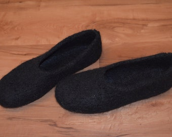 Gr. 43/44: Felt slippers with LaTeX sole