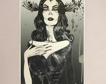 Kat Von D Gothic Fashion Illustration Art