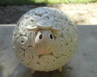 Ceramic sheep- handmade home decoration-MADE TO ORDER