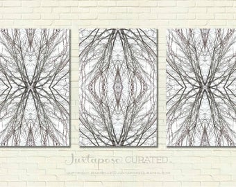 Sidhe Cathedral Triptych 24 x 16 prints on metal - reserved for K. Seal