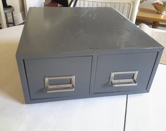 Vintage Steelmaster Double File Box