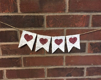 mini heart banner...mini wreath banner...valentines day mini banner