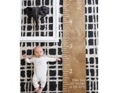 Engraved Stained Wood Growth Chart for Nursery or Kids Room