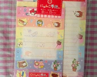 San-X Nyan Nyan Nyanko letter set 4 designs RARE