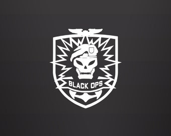 Call of Duty Decal - Black Ops / Gamer Decal / Gamer Decor / Vinyl Decal