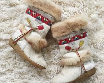 Vintage 1980's Technica Aprés Ski Boots