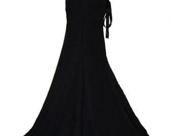 GOTHIC VICTORIAN FISHTAIL skirt, steampunk black skirt, full length gothic skirt, corset skirt, long fishtail skirt, burlesque, sizes 8 - 32