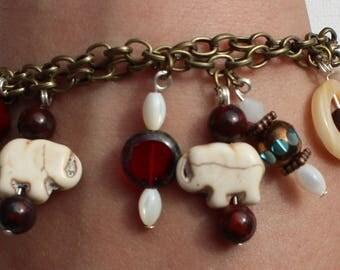 Elephant double chain Bracelet