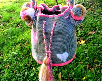 Hearted Wayuu Bag