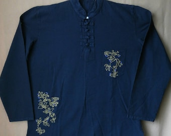 Men's Chinese style hand painted shirt