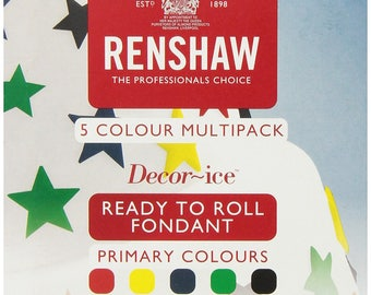 Renshaw Ready to Roll Fondant Primary Pack - 1.1 lb