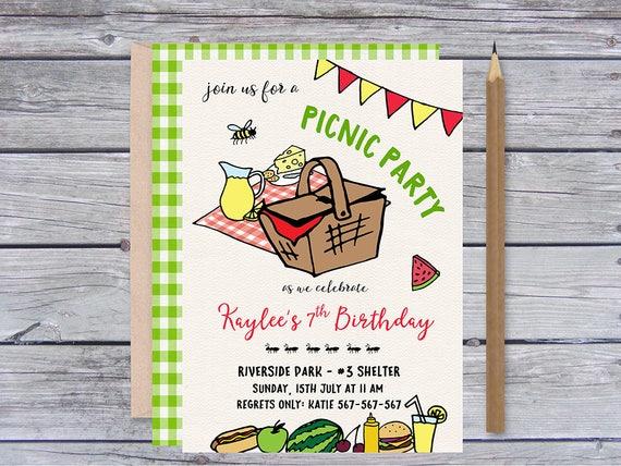 picknick-einladungen picknick-geburtstags-einladung, Einladung
