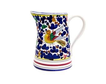 Sberna Deruta Italian Pottery Pitcher