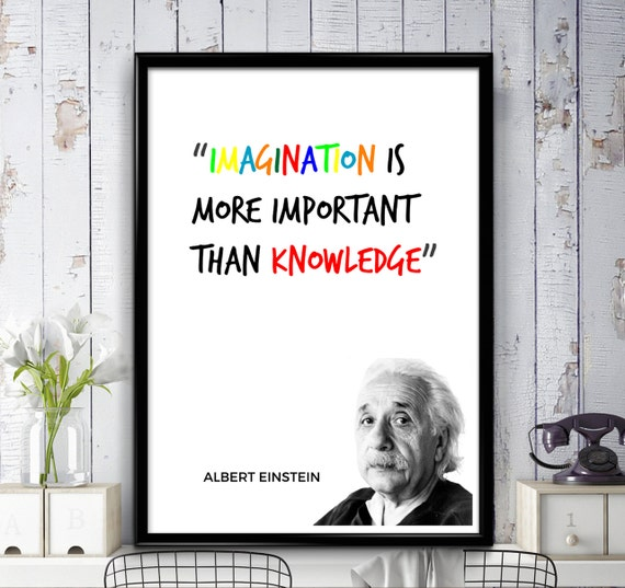 Einstein Quotes Imagination Is More Important Than Knowledge: Albert Einstein Quote Imagination Is More Important Than