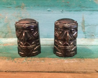 Totem Salt and Pepper Shakers