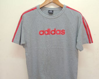Vintage Adidas Spell Out Logo T Shirt Sport Street Wear Swag Hip Hop Top Tee Size S