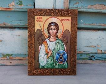 Archangel Raphael,Archangel Rafael,Saint Raphael,Saint Rafael,Archangels,Guardian Angel,Angels Artwork,God Heals,God who Heals,Angels Icon