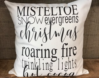 Christmas favorites pillow cover