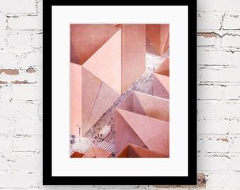 Geometric wall art Etsy