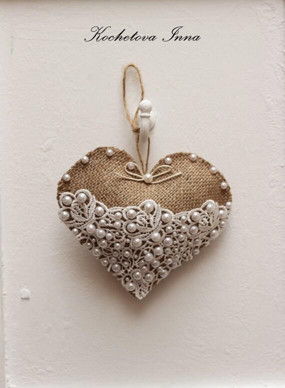 burlap lace heart ornaments home decor ornaments by christmas ornaments home decor ideas the xerxes