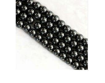 Lot of 100 gunmetal 4 mm hematite beads
