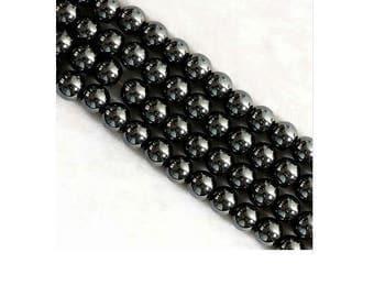 Set of 100 4 mm gunmetal hematite beads