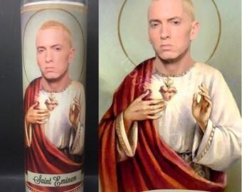 Eminem Devotional Prayer Saint Candle