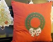 Embroidered Christmas Cushion