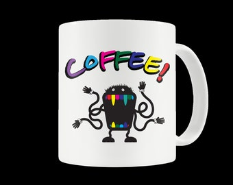 Vintage Coffee Monster Ceramic Mug
