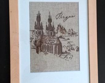 Pragua cross stitch picture
