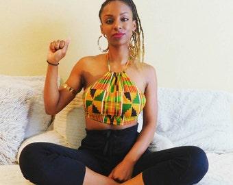 African Print Crop Top, Kente Crop Top, Africa Print, As seen on Essence.com