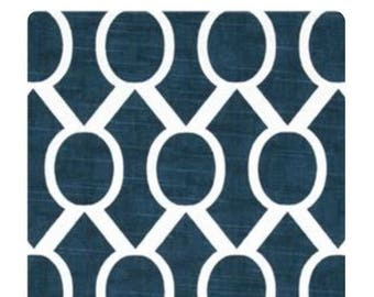 Navy blue with white circles