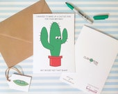 Cactus Joke Quirky Birthday Card - Funny Card - Alternative Happy Birthday Card for Son Daughter Niece Nephew Friend - Charity Card