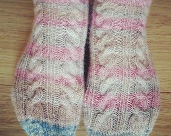 Digital Sock Pattern for Cable Socks, Ankle Socks, Short Socks, Tennis Socks, PDF Pattern