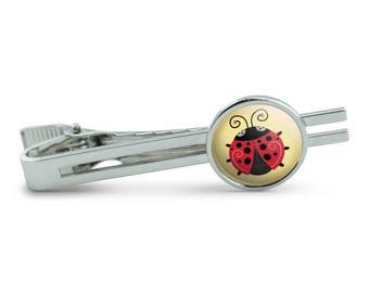 Cute Ladybug Men's Tie Clip Tack Bar