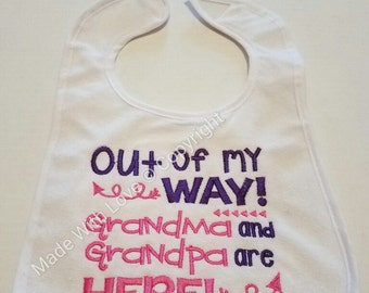 Embroidered Bibs,Baby Bibs,Customized Bibs,Grandpa saying Bibs,Funny saying bib,Bibs for baby's,cute baby bibs,plastic bibs,water proof bibs
