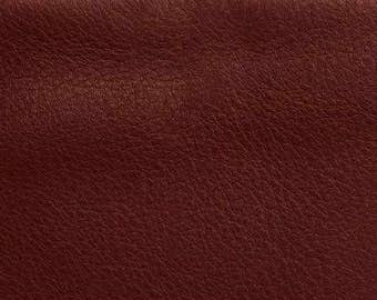 Italian Full Leather Hide Aniline/SAUVAGE Smooth colour Burgundh + GIFT