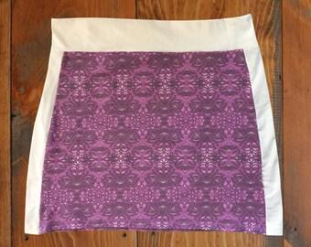 Lavender, Purple & White T-Shirt Skirt, Size L