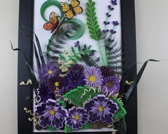 Framed Beautiful Garden Flowers