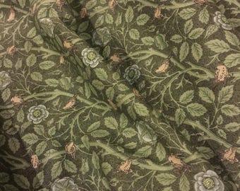 "Fabric William Morris by Barbara Brackman for Moda 8242 Tomtit  Fat 1/4 18""x22"" or Yardage  100 pct quality Cotton"