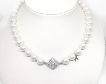 Big freshwater pearl necklace 0,4-0,5""