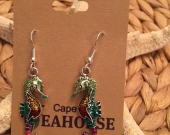 Seahorse Earrings,Jewelry,Ocean,Coastal,Nautical