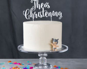 Personalised Christening Cake Topper